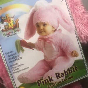 Pink Bunny Halloween costume. 6-12 months. New!